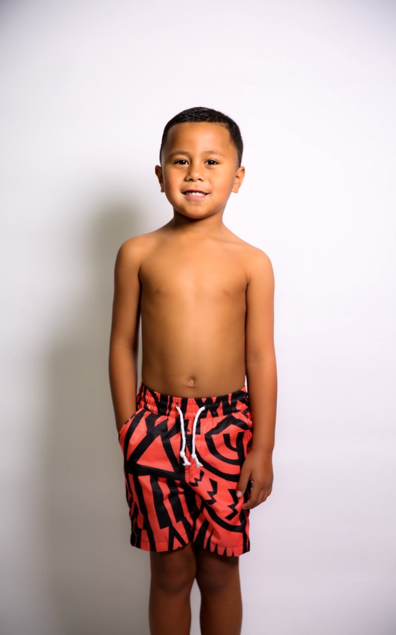 BOYS CORAL ELEI PRINT BOARD SHORTS