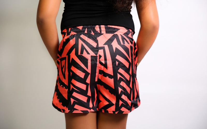 GIRLS CORAL ELEI PRINT BOARD SHORTS