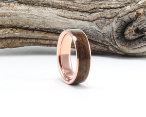 14K Rose Gold with Rosewood Inlay