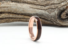 Load image into Gallery viewer, 14K Rose Gold with Rosewood Inlay