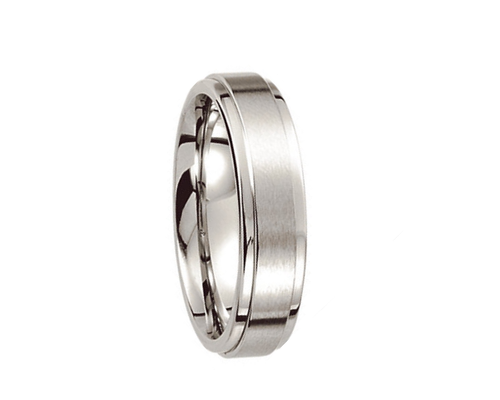 Cobalt Ring with Ridged Edge,