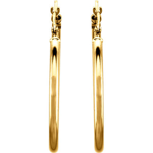 30mm Hoop Earrings 14K Gold