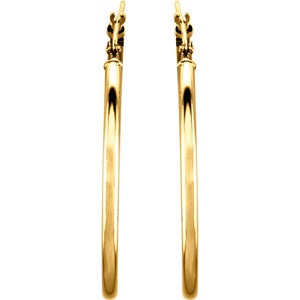 34mm Hoop Earrings 14K Gold