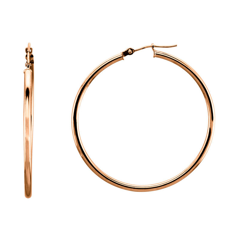 40mm Hoop Earrings 14K Gold