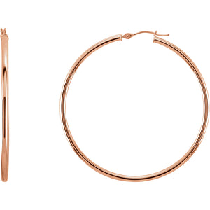 47mm Hoop Earrings 14K Gold