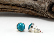 Load image into Gallery viewer, Chrysocolla Stud Earrings in .925 Sterling Silver