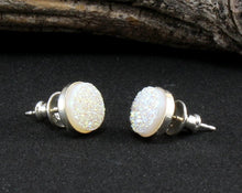 Load image into Gallery viewer, Druzy Stud Earrings in .925 Sterling Silver