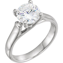 Load image into Gallery viewer, 8 mm Round Forever One™ Created Moissanite Solitaire Engagement Ring
