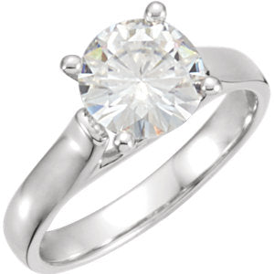 5 mm Round Forever One™ Created Moissanite Solitaire Engagement Ring