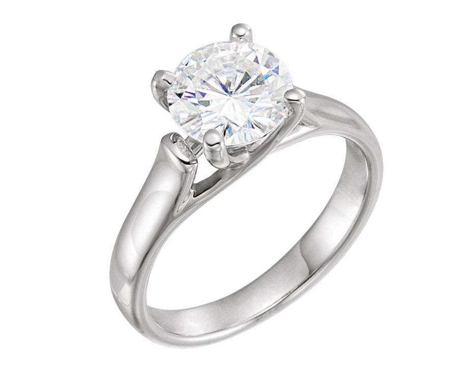 8 mm Round Forever One™ Created Moissanite Solitaire Engagement Ring