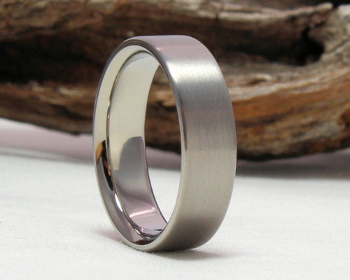 Titanium Ring, Titanium Wedding Band, Classic Wedding Band, Brushed Finish