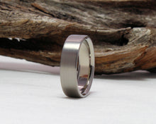 Load image into Gallery viewer, Titanium Ring, Titanium Wedding Band, Classic Wedding Band, Brushed Finish