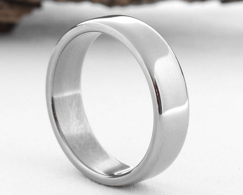 Titanium Ring, Titanium Wedding Band, Classic Wedding Band Polsihed Finish