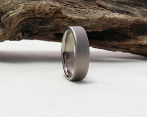 Titanium Wedding Band, Titanium Ring, Classic Wedding Band Satin Finish