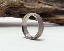 Load image into Gallery viewer, Titanium Wedding Band, Titanium Ring, Classic Wedding Band Satin Finish