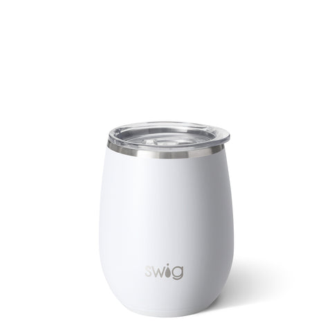 Matte White 14oz Stemless Cup