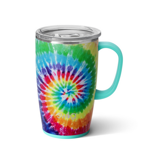 Swirled Peace Travel Mug (18oz)