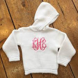 Monogrammed Zipper Back Baby Sweater