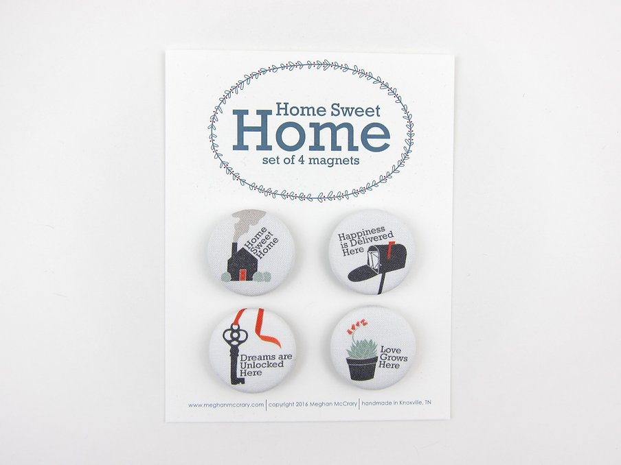 Home Sweet Home Fabric Magnet Set