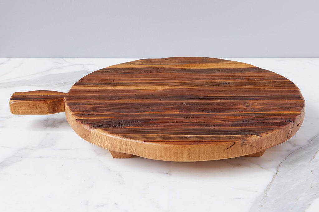 Oversized Round Footed Serving Board