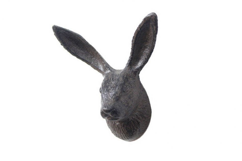 Cast Iron Rabbit Head Hook