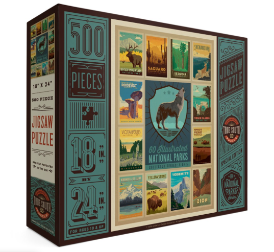 True South National Parks Collector Series Puzzle - Wolf
