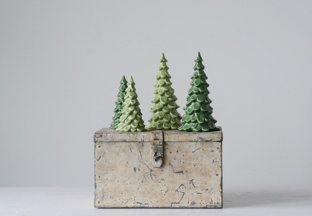 Vintage Style Stoneware Tree, 2 Sizes (Colors Vary)