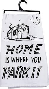 Home Is Where You Park It Tea Towel