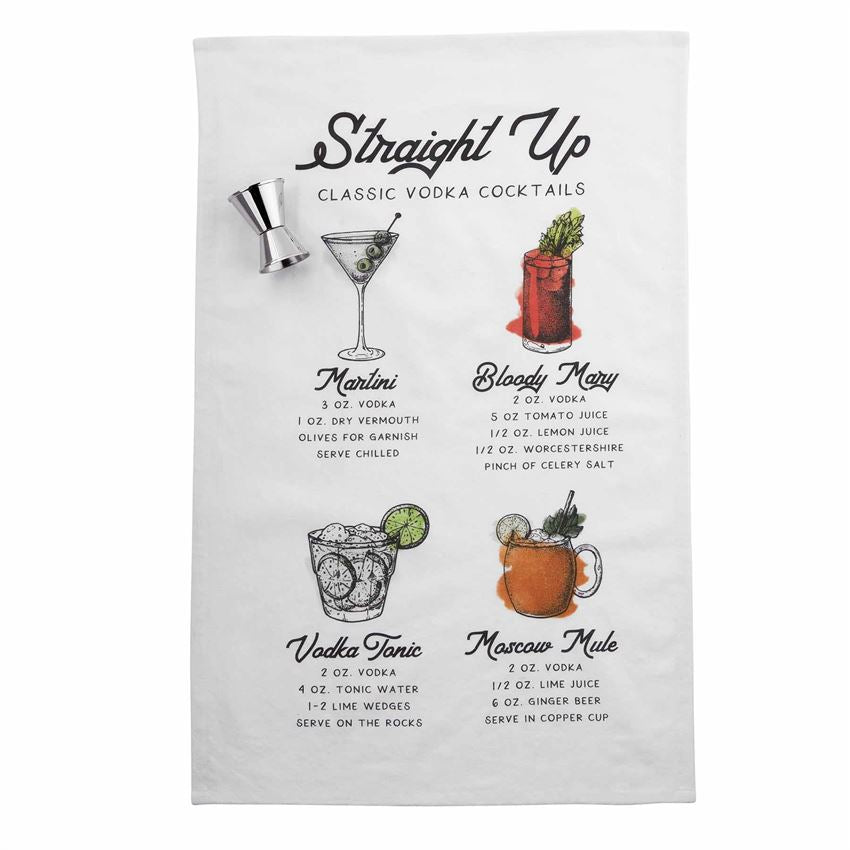 Cocktail Recipe Towel Set, 2 Styles