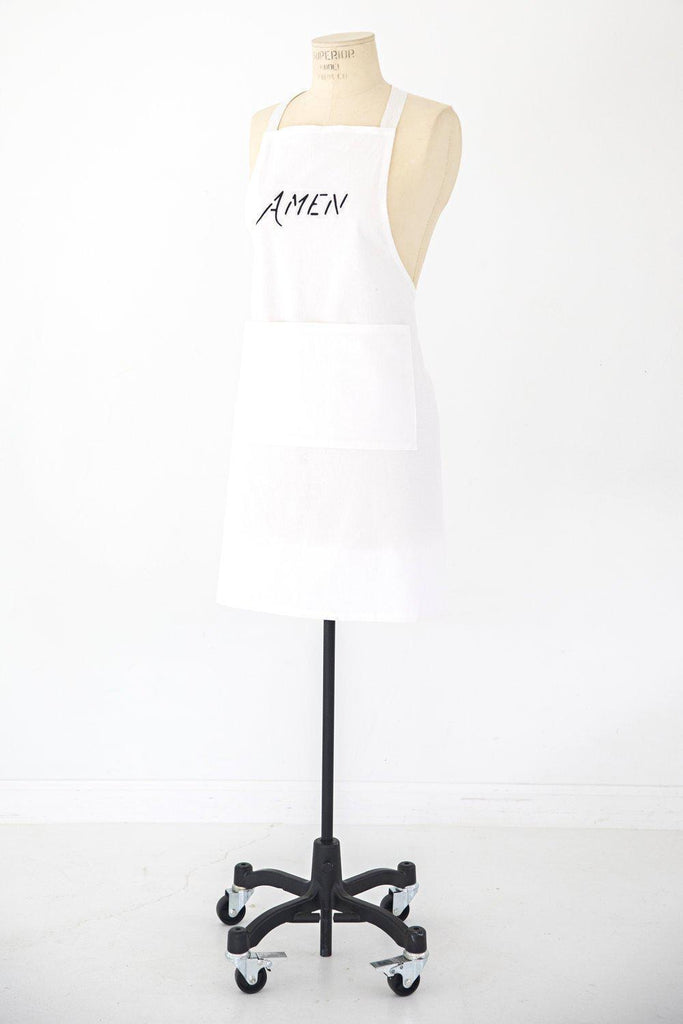Simple Blessings Crinkle Cotton Adult Apron, Amen