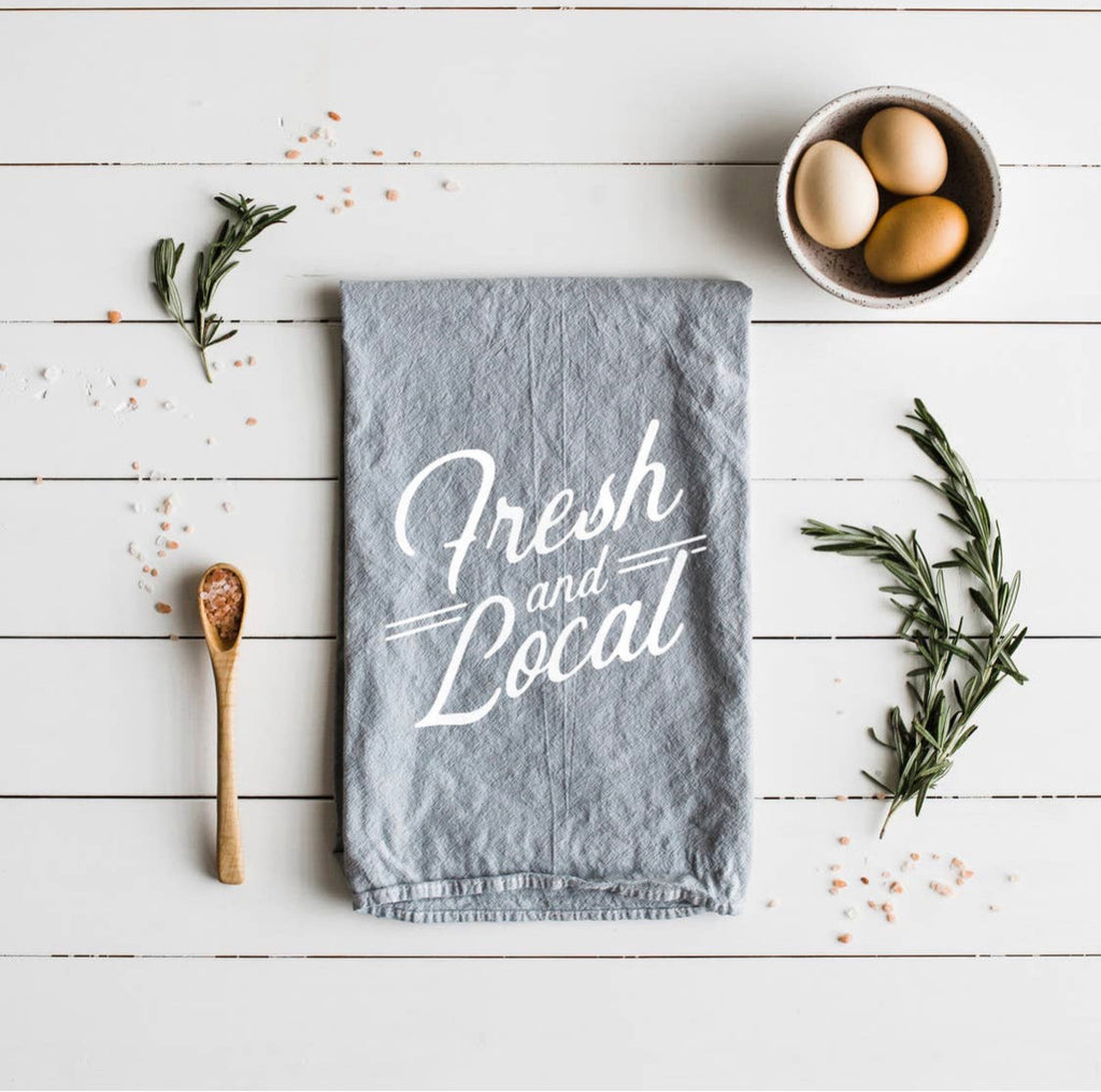 Fresh and Local Tea Towel