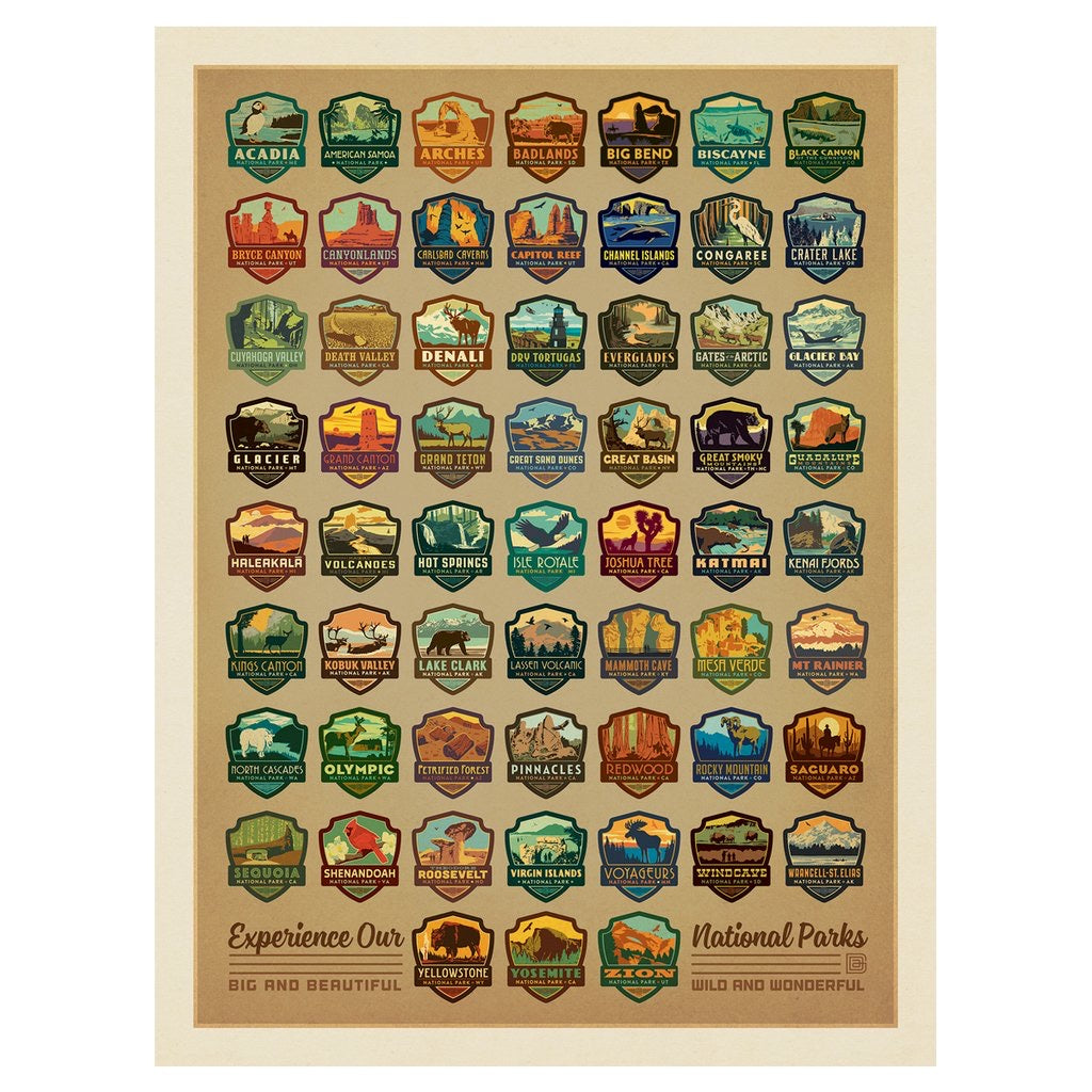 True South National Parks Emblems Puzzle
