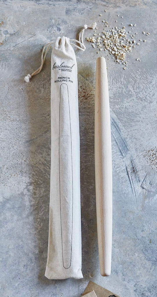French Rolling Pin in Canvas Bag