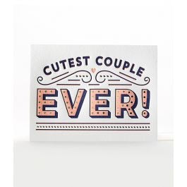 Elum Cutest Couple Letterpress Card