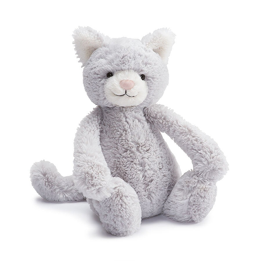 Jellycat Bashful Gray Kitty, Medium