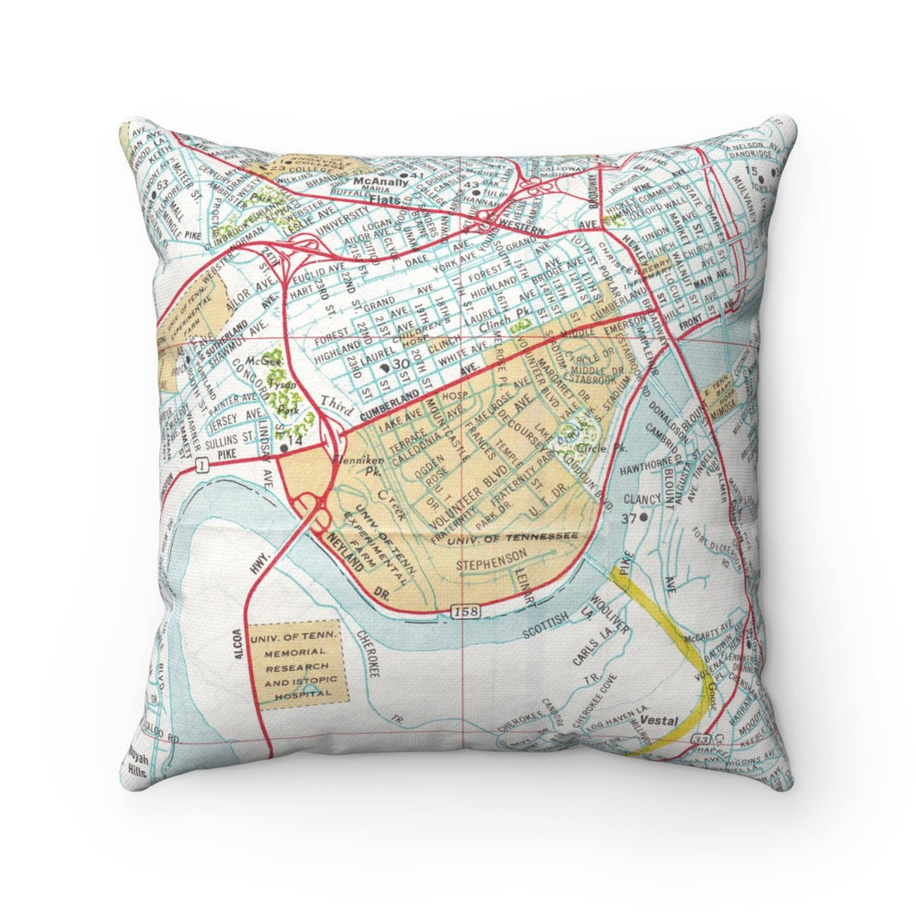 18 x 18 University of Tennessee Map Pillow with Insert