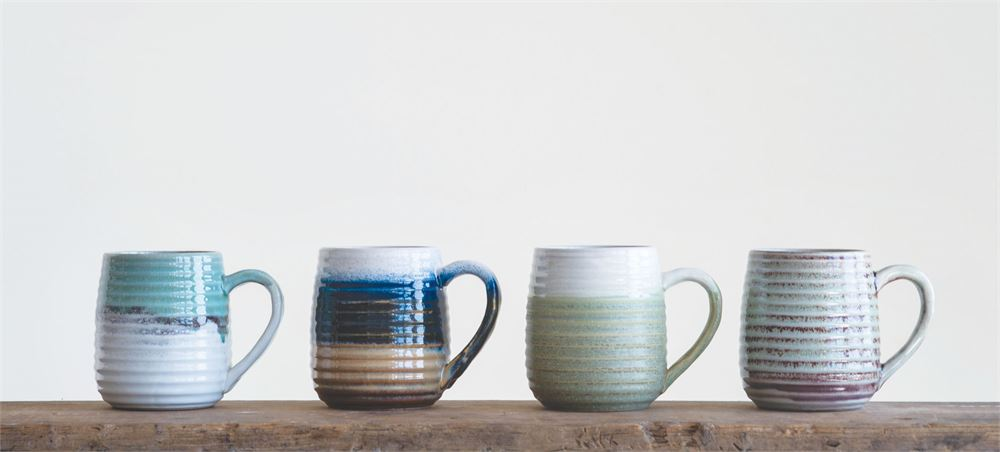 Glazed Ceramic Mug, 4 Styles
