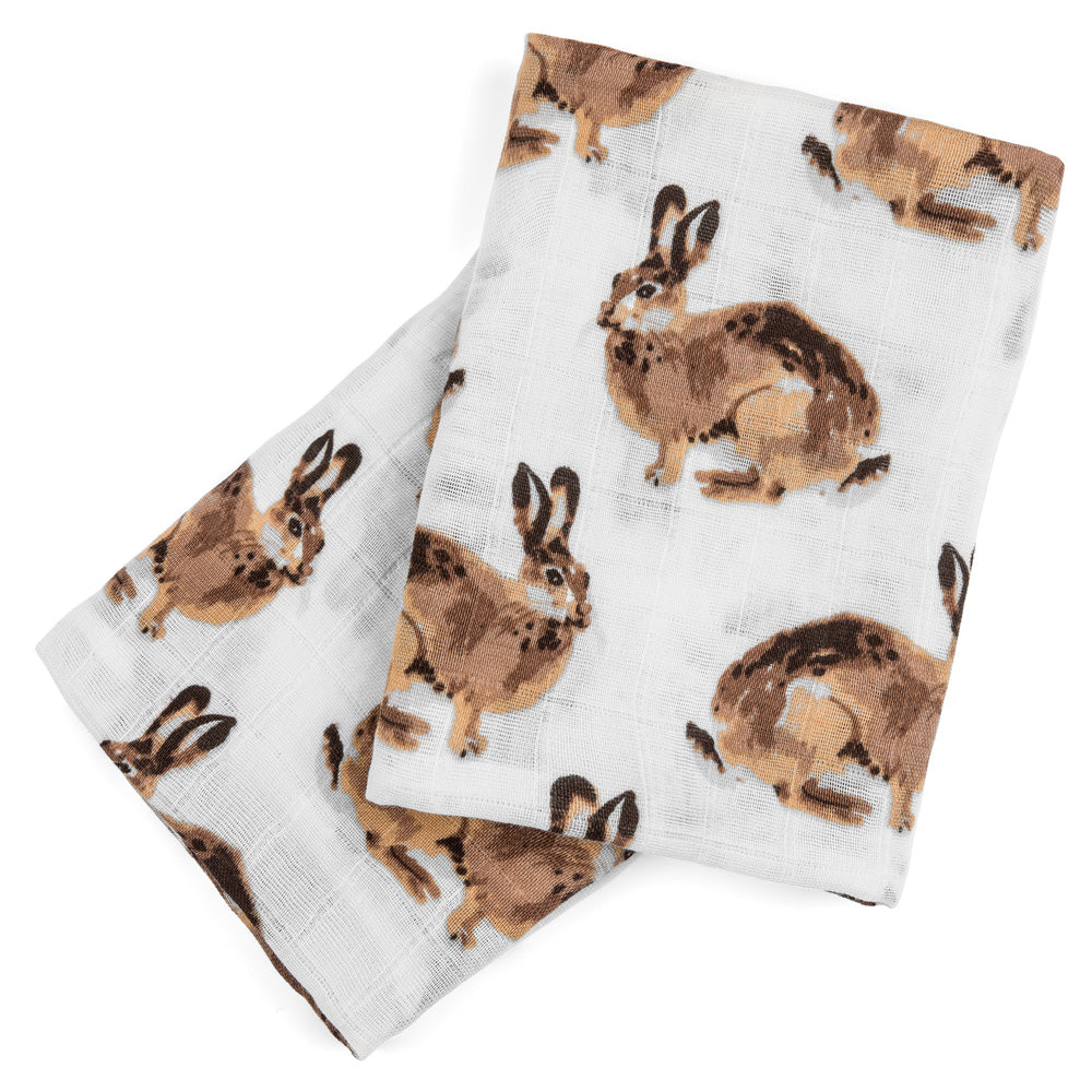 Milkbarn Burp Cloths - Bunnies (Set of 2)