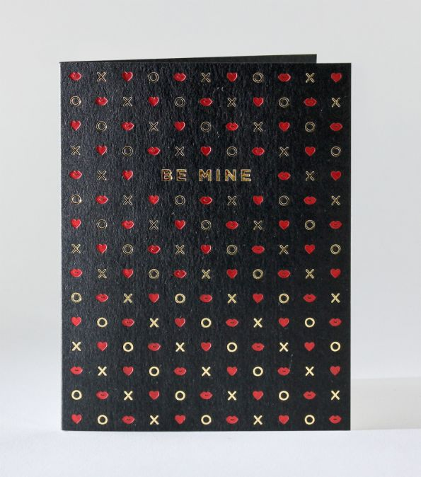 Elum Be Mine Symbols Letterpress Card