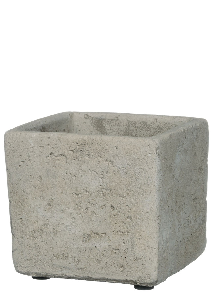 4 Inch Square Cement Planter