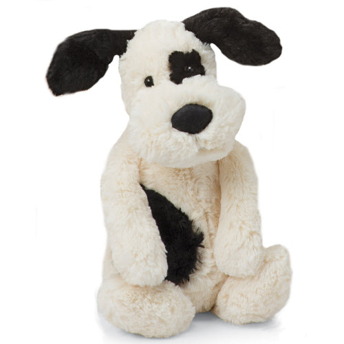 Jellycat Bashful Black and Cream Puppy, Large