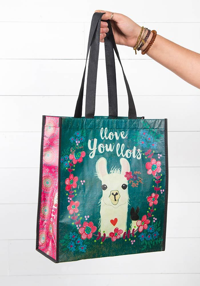 "Natural Life ""Llove You Lots"" Llama Large Gift Bag"