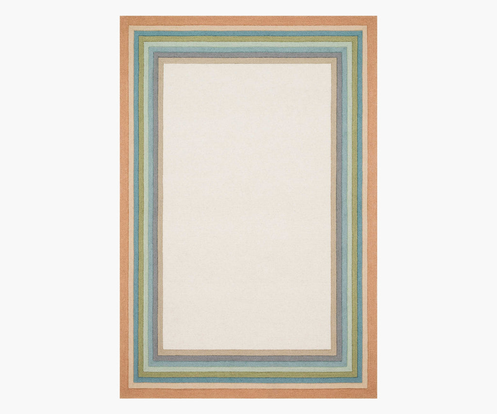 "Rifle Paper Co. Painted Stripe Pastel Wool-Hooked Rug 2'3""x3'9"""