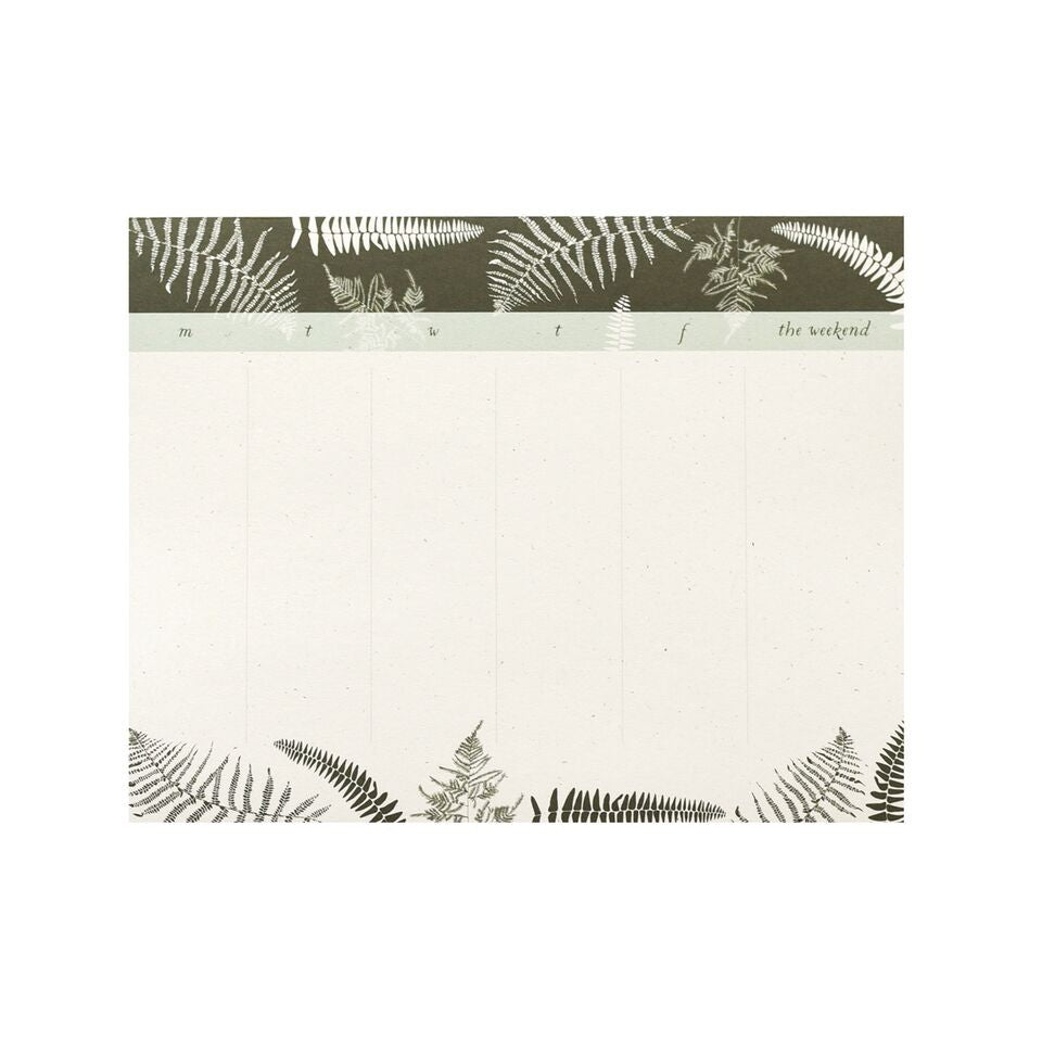 June & December - Fronds Desk Pad, Weekly To Do