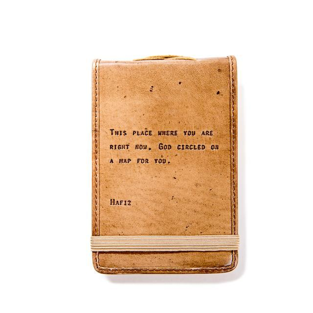 Mini Leather Journal - Hafiz