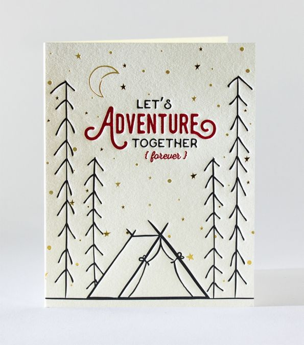 Elum Adventure Together Letterpress Card