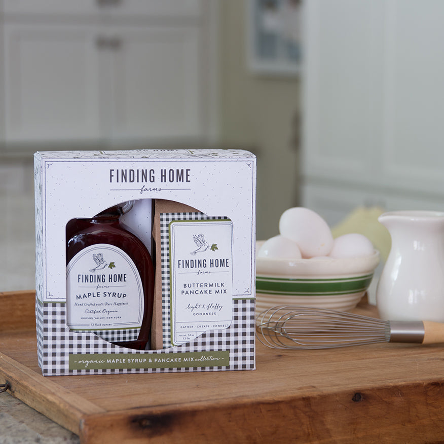 Finding Home Farms Boxed Maple Syrup and Pancake Mix Gift Set