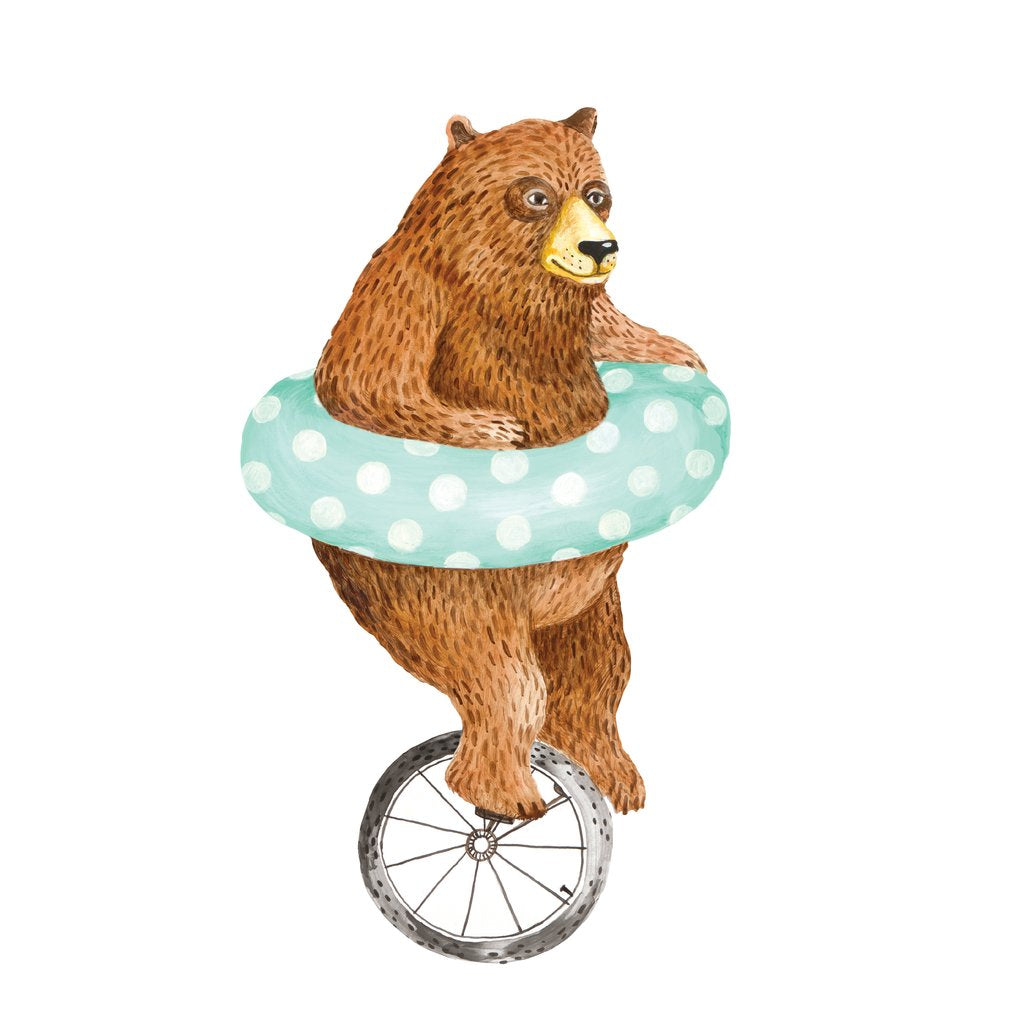 Hester & Cook Nice Wheels Bear Paper Table Accent, Pack of 12