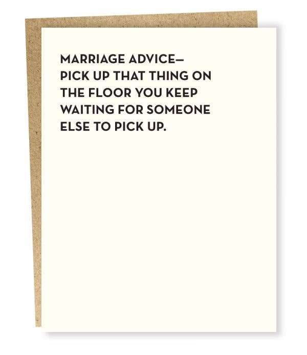 Sapling Press #901: Marriage Advice Card