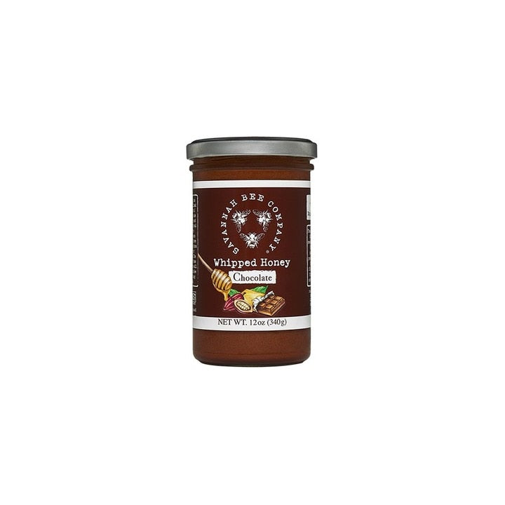 Savannah Bee Company Whipped Honey with Chocolate, 12 Ounce